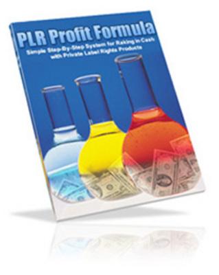 Product picture The PLR Profit Formula