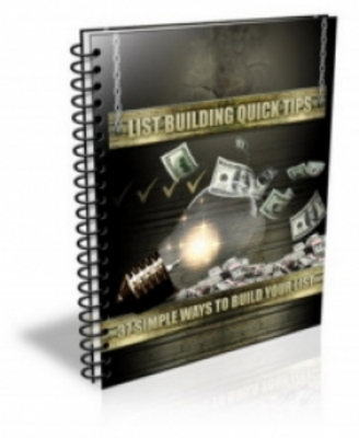 Product picture List Building Quick Tips (PLR)